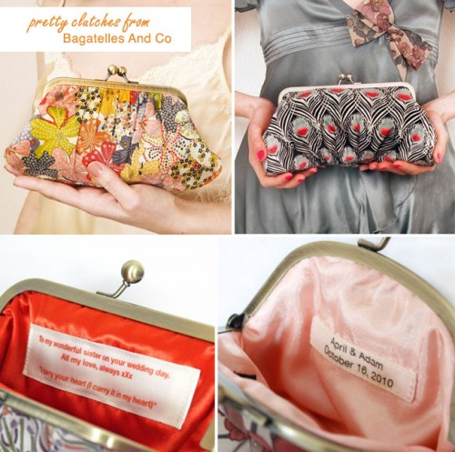 Give a clutch with a twist. What a fun memento for a special day!