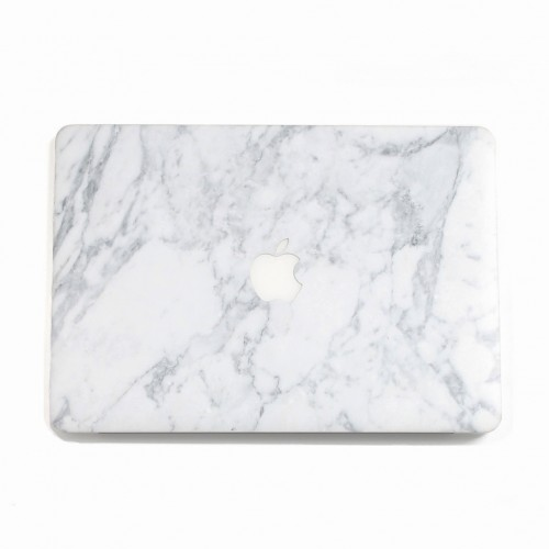 White Marbe UniqFind MacBook Case