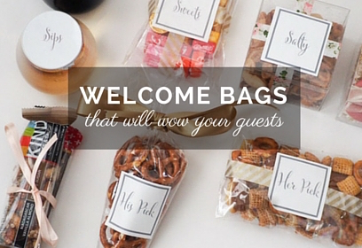 Wedding Wednesday What We Put In Our Welcome Bags WelcomeBagsThatWowGuests