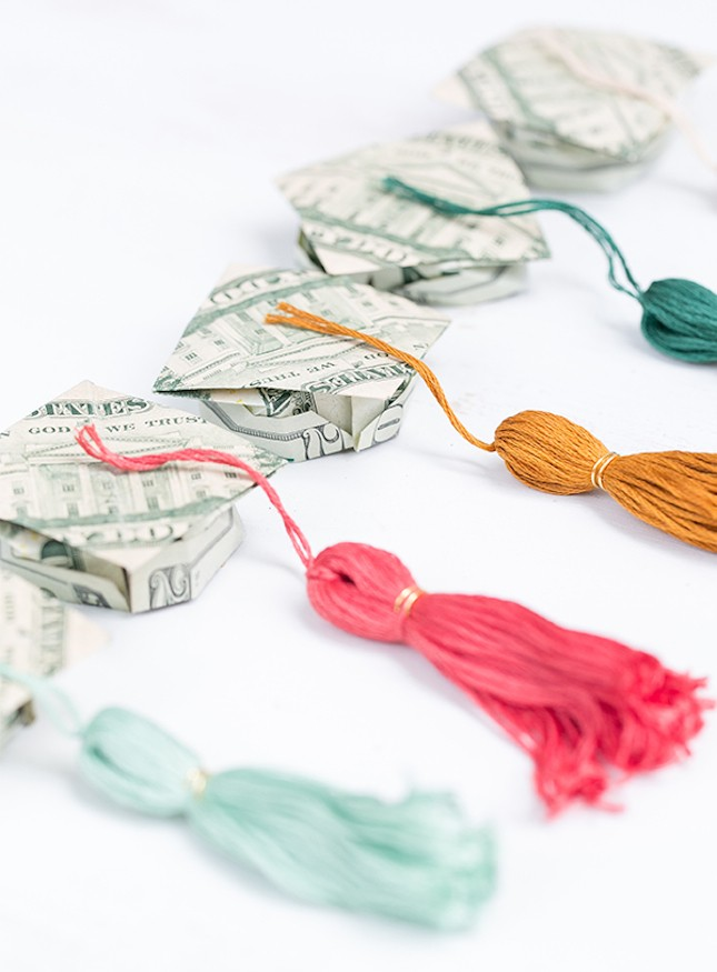 DIY Money Graduation Hats