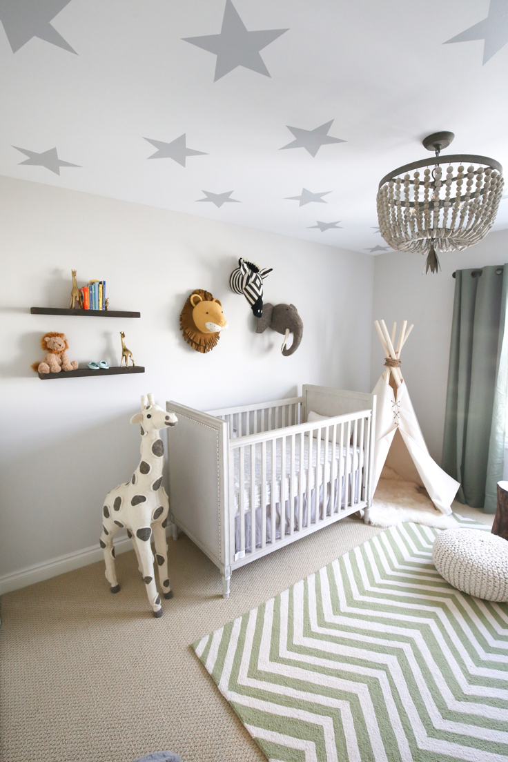 We loved putting together all of these pieces to create a fun space for our  little man. See below for where we purchased everything.