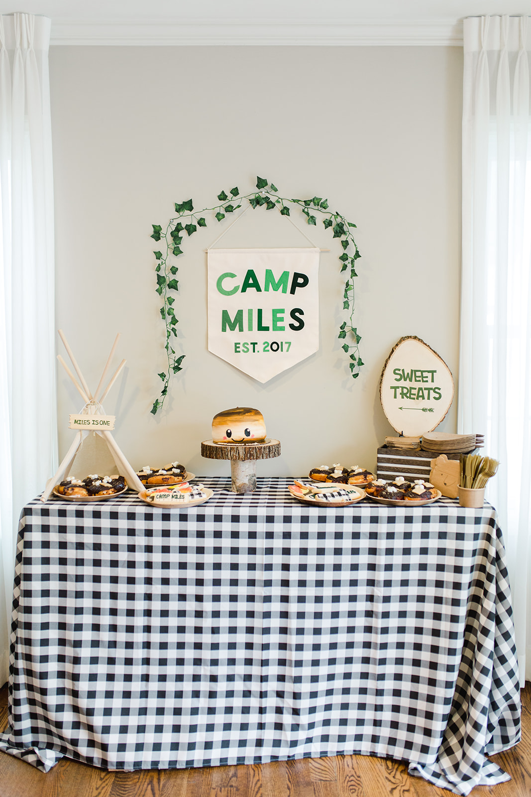 Camp Themed Party Dessert Table