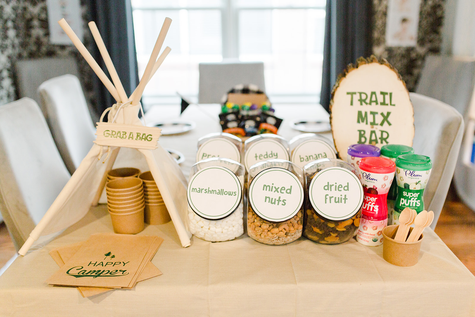 Camp Party Trail Mix Bar