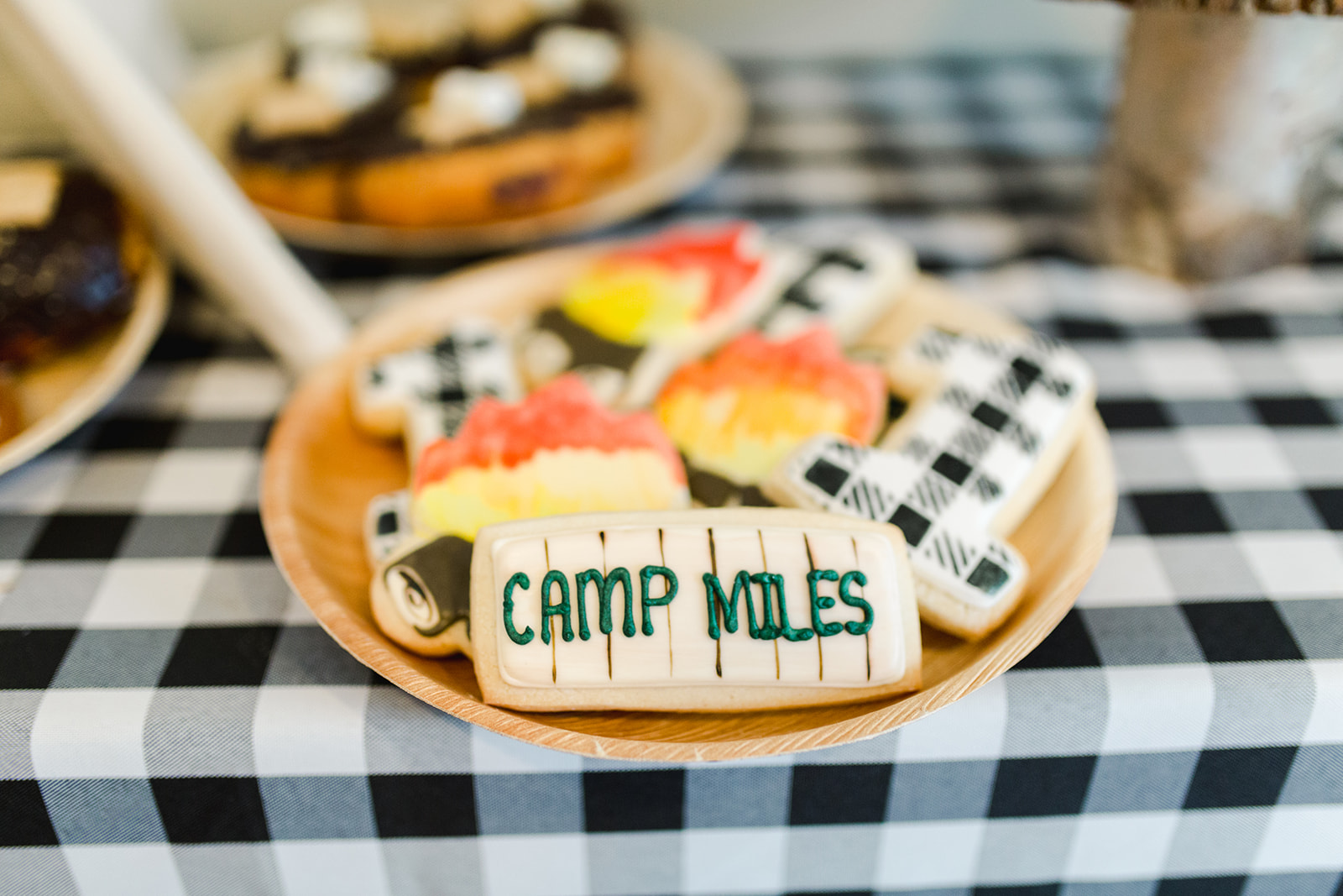 Camp Themed Birthday Cookies