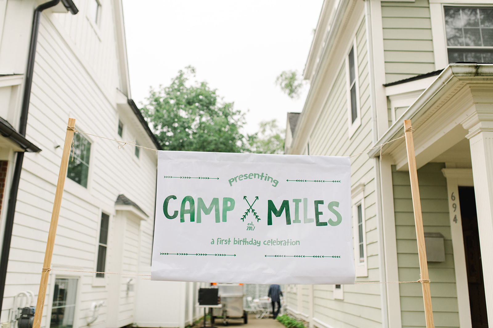 1st Birthday Camp Sign