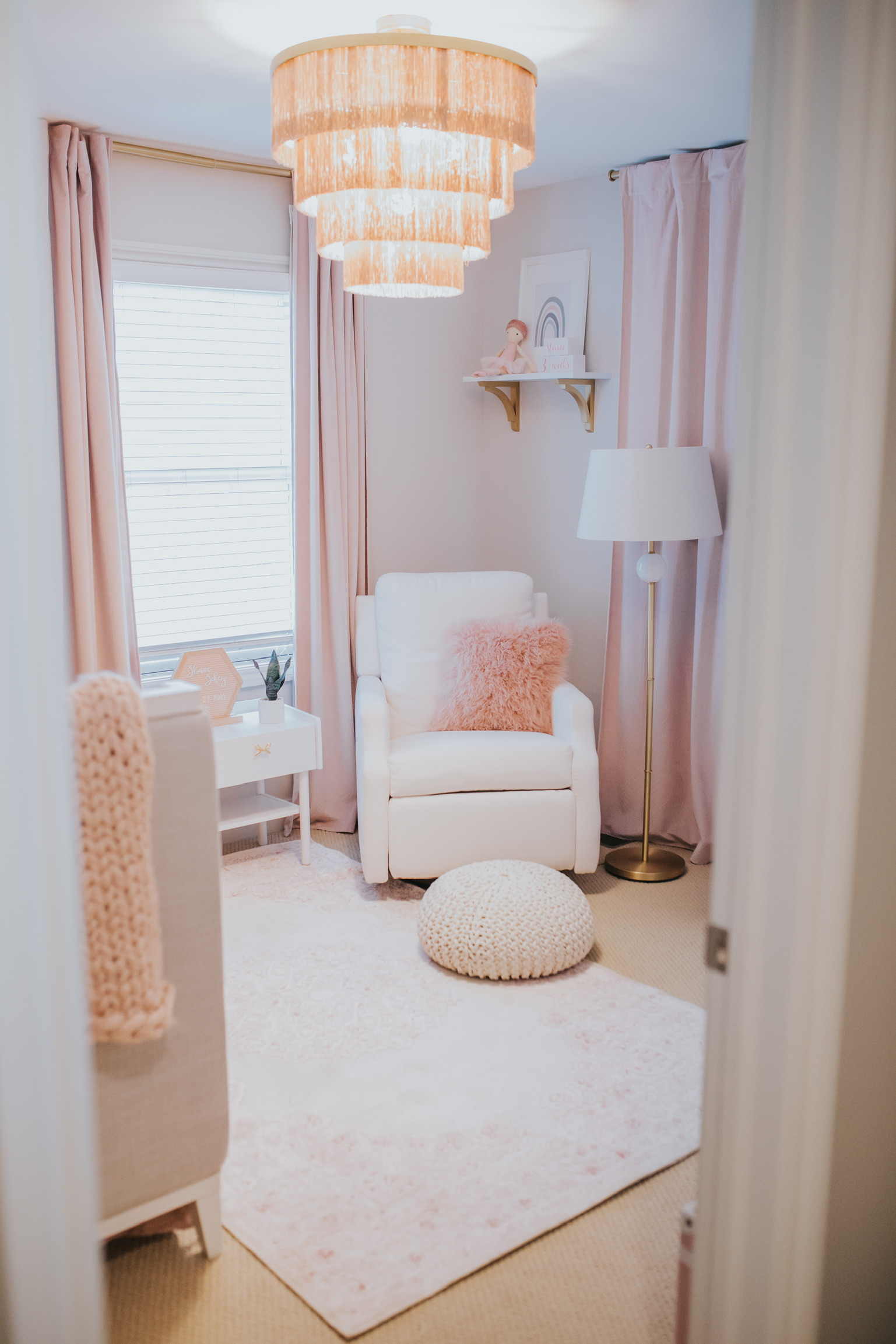 Baby Sloane's Pink and Gold Nursery Reveal