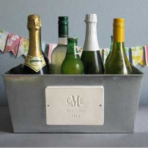 personalized champagne tub