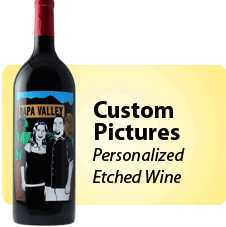 Custom Personalizied Etched Wine