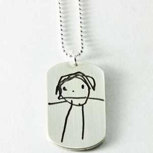 Child Artwork Pendant