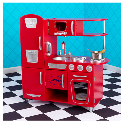 Vintage Play Kitchen Red Dibsie
