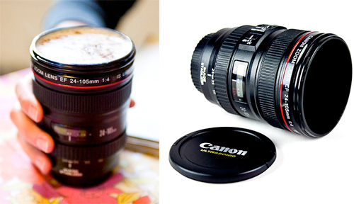 Guest feature unique gift ideas for your co workers for Canon photo lens mug