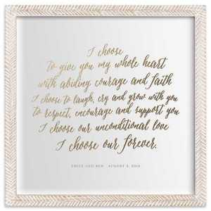 Your Vows As Art Print