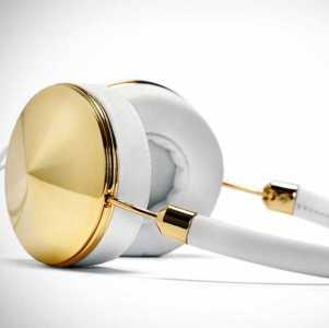 Frends Gold & White Headphones