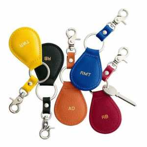 Leather Monogram Key Fobs
