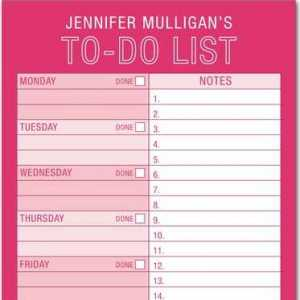 Personalized To-Do List