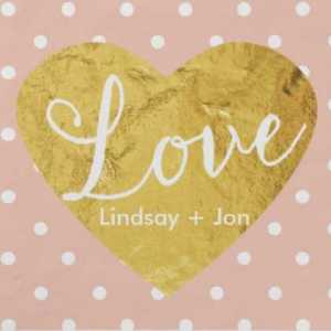 Heart Napkins Personalized