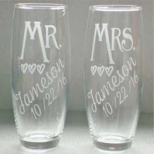 Handmade Champagne Flutes