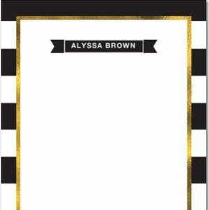 Striped Custom Notepad