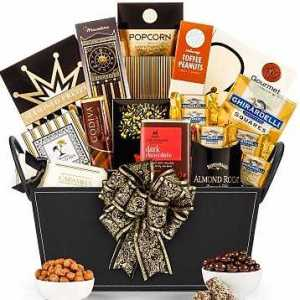 Leather Gourmet Gift Basket