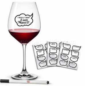 Chit Chat Wine Glass Stickers