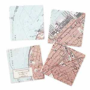 Custom Map Coasters
