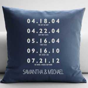 Personalized Special Dates Pillow