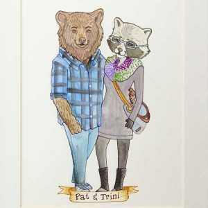 Custom Animal Couple Portrait