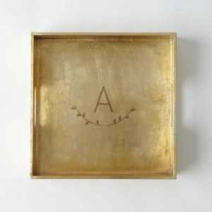 Gold Square Tray