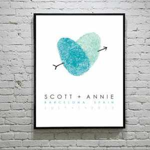 Thumbprint Wedding Poster