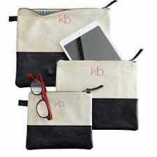 Monogram Leather Pouch