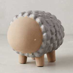 Ceramic Critter Sheep Bank