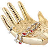 Shiny Brass Hamsa Ring Holder